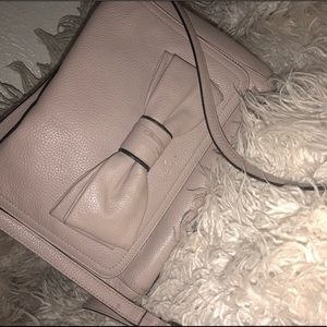 Kate Spade Tan Rosewood Place Coralie Purse w/ Bow